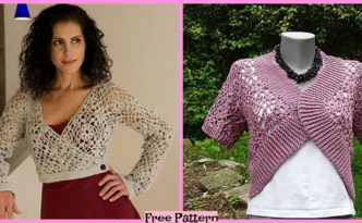 diy4ever- Crochet Wrap Top - Free Patterns