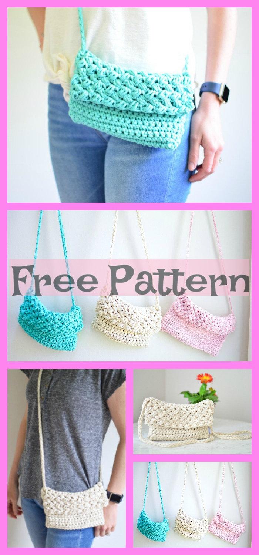 diy4ever -6 Crochet Cross Body Bag Free Patterns