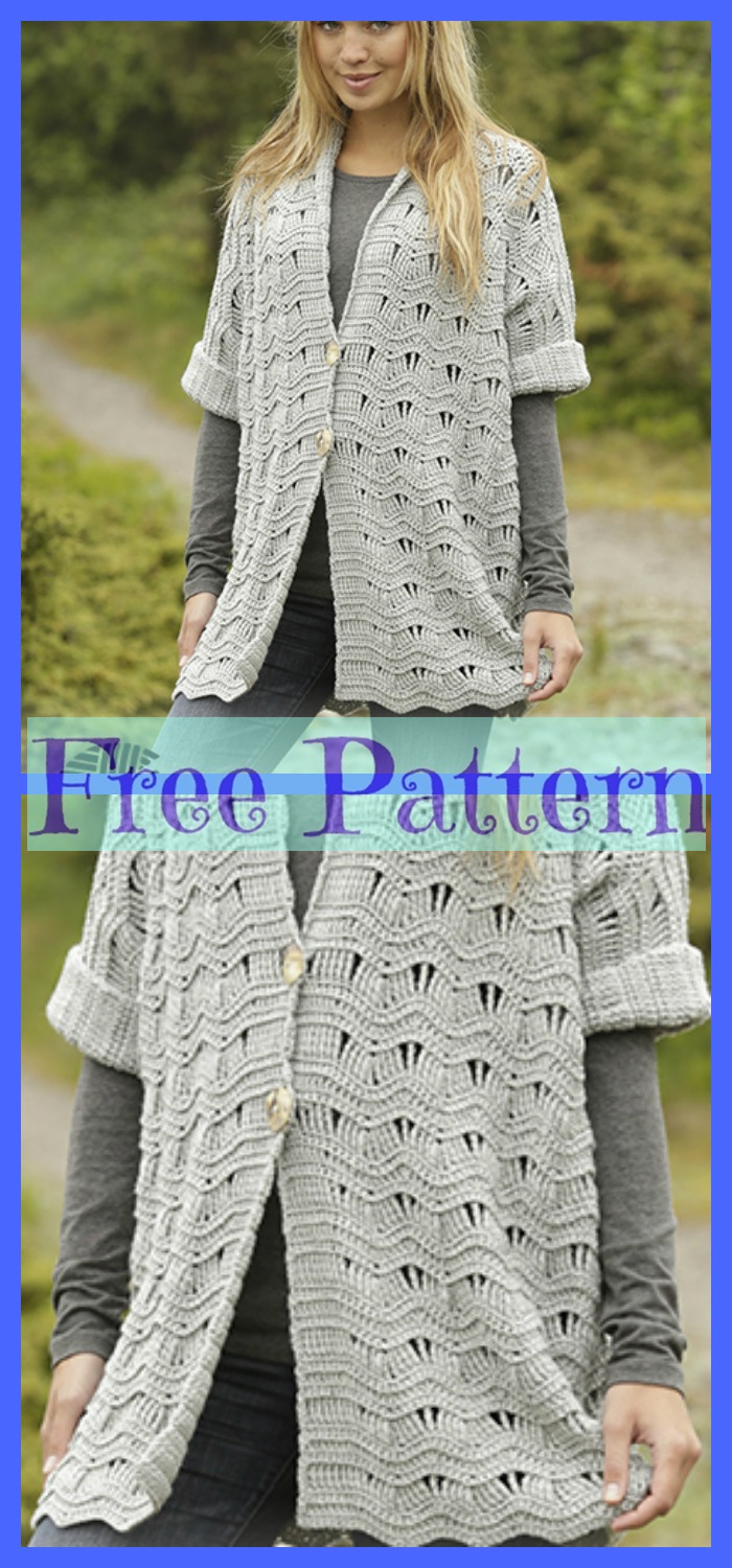 6 Unique Crochet Jacket Free Patterns Diy 4 Ever