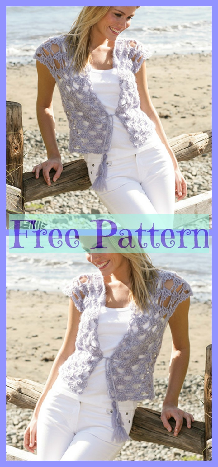 diy4ever-8 Crochet Lace Vests - Free Patterns