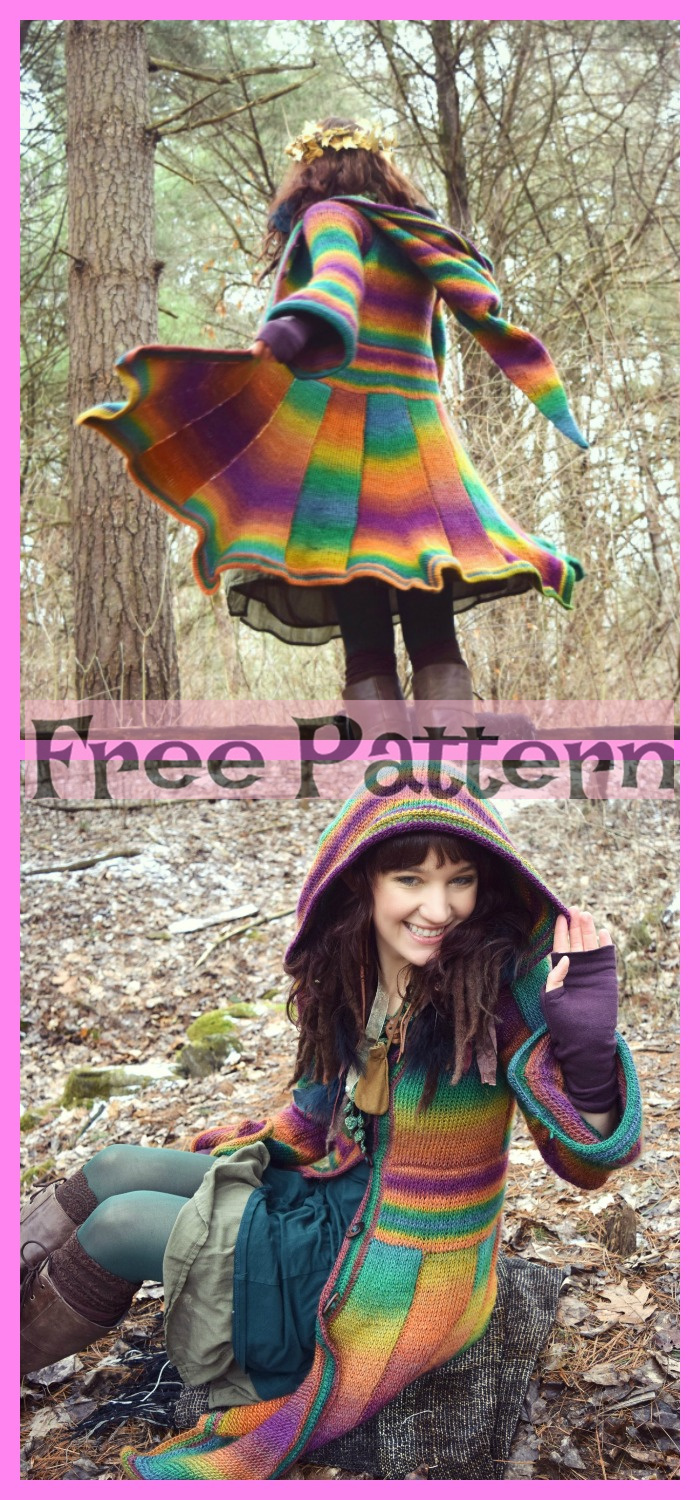 diy4ever-Crochet Elf Coat Free Pattern