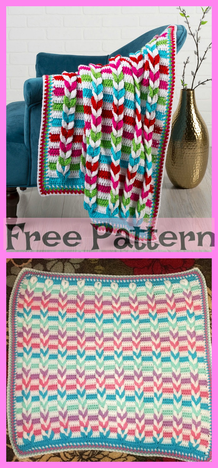 diy4ever-Pulled Crochet Taffy Blanket - Free Pattern
