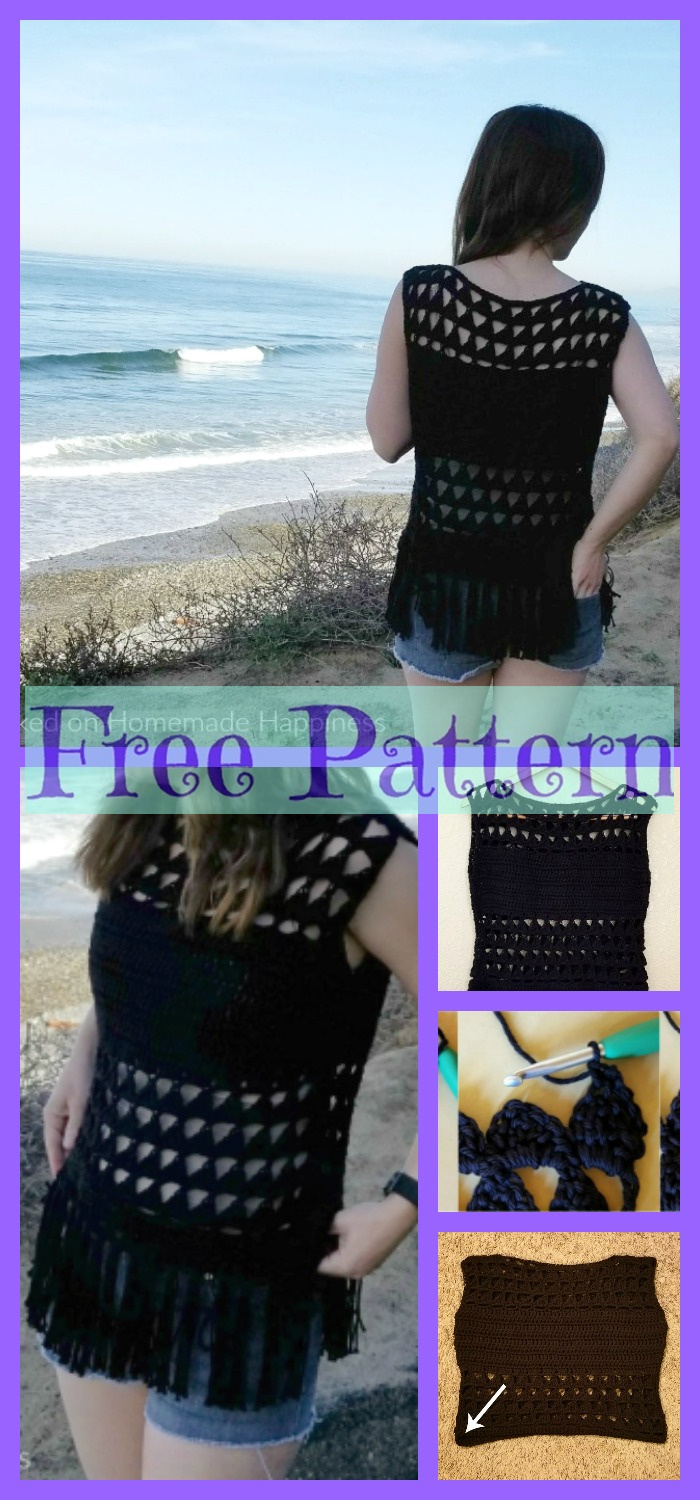 diy4ever-Summer Valley Crochet Top Free Pattern
